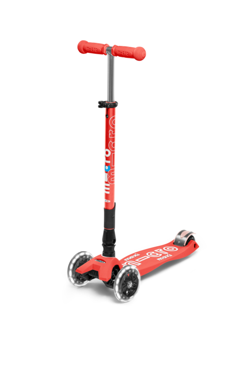 Scooter Maxi MICRO DELUXE foldable bright coral (LED) - MMD093 - Bild 1