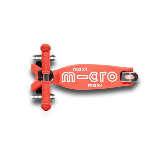 Scooter Maxi MICRO DELUXE foldable bright coral (LED) - MMD093 - Bild 2