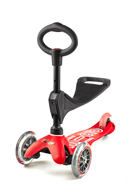 Scooter Mini MICRO 3in1 DELUXE rot - MMD015 - Bild 1