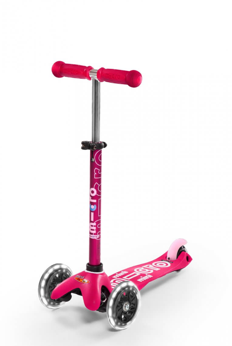 Scooter Mini MICRO DELUXE mit LED Rädern pink - MMD075 - Bild 1